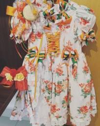 Vestido festa junina via flora