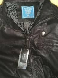 Jaqueta de couro preta no tamanho GG Feminina tamanho GG