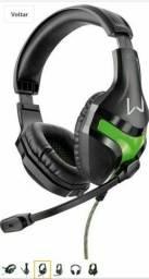 Headset Gamer Warrior Harve P2 Stereo Preto E Verde PH298 - Multilaser.