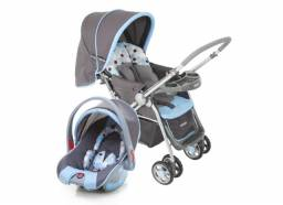 Carrinho de Bebê Travel System Reverse Azul - Cosco/1 Carrinho, 1 Bebê Conforto