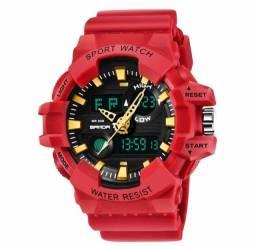 Relógio Sport vermelho