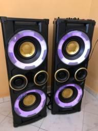 Vendo caixas amplificadas - 500W+500W - R$ 700,00- Araruama