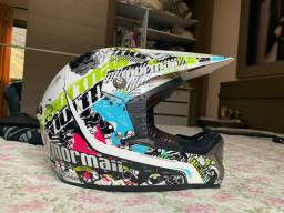Capacete cross reactor white - mormaii