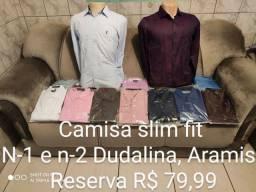 Camisa slim Fit Dudalina , Aramis , Reserva 1 ao 7 R$ 79,99