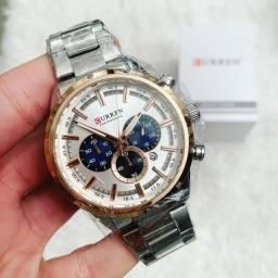 Relógio Curren Aço Inoxidável Cronógrafo