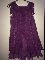 Vestido roxo plus size