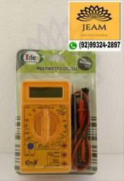 Multímetro Digital Com Bip Sonoro Alicate Amperímetro Multiteste