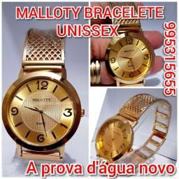 RELÓGIO MALLOTY UNISSEX.  PULSEIRA ESTILO BRACELETE
