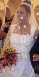 Vestido de noiva + mantilha * coroa em 12x