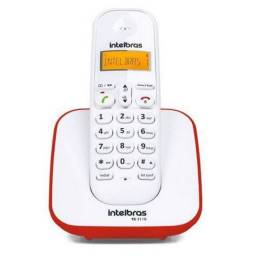 Telefone Sem Fio Digital Branco E Vermelho Intelbras