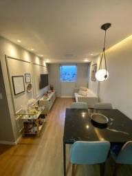 Exc:Apto c/60m2 nascente 5and 2qtos 1ste móveis planejados piscina salão festas.