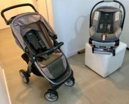 Semi novo carrinho de bebê Chicco modelo Bravo 2018
