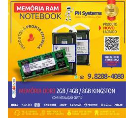 Memorias para Notebooks ,Diversas Marcas e Frequências. Novas á pronta Entrega!