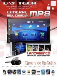 Central Multimídia espelhamento TayTech Mp8 Tela 7 bluetooth