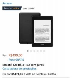 Kindle Paperwhite à prova d?água 8 Gb frete gratis