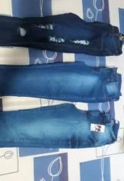 Calça jeans feminina tamanho 36 forma pequena