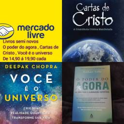 O poder do agora , cartas de Cristo e você é o universo