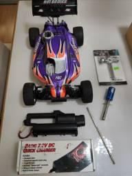 Carro de Controle Remoto RC Buggy Combustão Nitro 1/10 Lightning 10