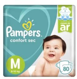 Fralda Pampers Confort SEC M 80 unidades - PACOTE FECHADO