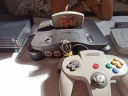 N64 completo mais jogo Mario party