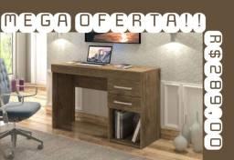 Mesa de escritório com 2 gavetas
