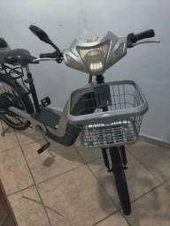 Bicicleta Elétrica Bio Bike Cinza Completa
