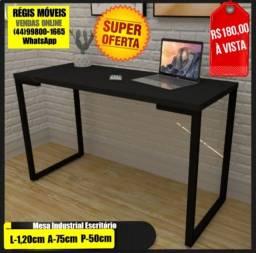 Mesa Escrivaninha Pes Metalicos 1,20 LargurA NovO