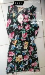 1 Vestido LISA tam G n42/44  floral original ultimo Liquidaçao