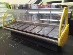 Balcao Expositor de Carnes 3,00 mts usado refrigerado linha açougue