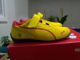 Tênis infantil Puma Ferrari 28 amarelo Original