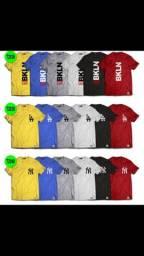 Camisetas longline e tradicional