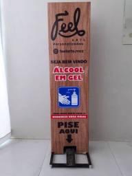 Totem Dispenser para Álcool Gel