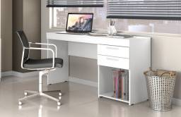 Mesa Office Branca #Entrega E Montagem Grátis