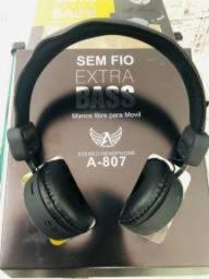 Fone Bluetooth Entrada P/ Cartão Micro Sd Microfone Rádio Fm