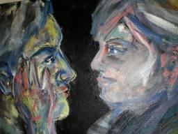 Pintura em acrílico 50x30