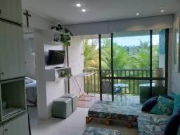 Excelente oportunidade em muro alto/apartamento totalmente beira mar/ mobiliado