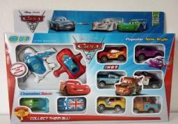 Kit Carros E Aviões Mcqueen Disney Pixar 10 Peças Fricção