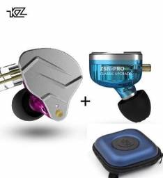 Fone KZ ZSN Pro + Bag Dual Drive Sem Mic Retorno