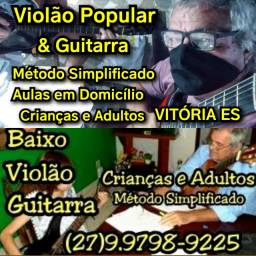 (27)99798.9225 Aulas para Crianças e Adolescentes em Domicílio Violão Guitarra