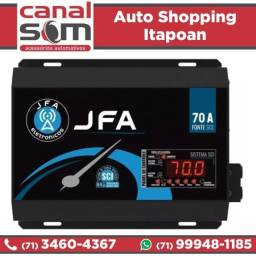 Fonte Automotiva JFA 70A Digital SCI, Instalada na Canal Som