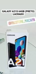 GALAXY A21s 64GB NOVO LACRADO, ACEITO CARTÃO