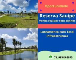 Reserva Sauípe lotes estruturados na Costa do Sauíte, venha realizar seu sonho