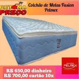 Oferta Relâmpago de colchão de Casal com Molas Fusion Pelmex