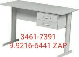 Mesa escritório 1,20 x 0,60 nova 2 gavetas com chave