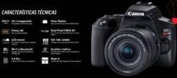Câmera EOS Rebel SL3 Kit 2 Lentes EF-S 18-55mm + EF-S 55-250mm Canon