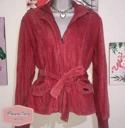 Jaqueta Indulto na cor Rosê Tam. P- R$ 29,90