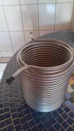 Serpentina dupla em inox 304 para fabricação de chopeira - 20 metros