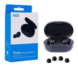 Título do anúncio: Fone De Ouvido Sem Fio Bluetooth Preto Mipods iPhone A6s Pro