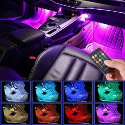 Led Interno Rgb Automotivo Tuning Neon 7 Cores Com Controle
