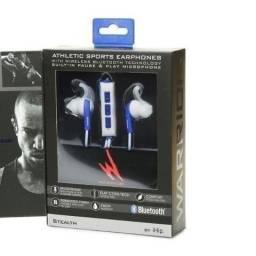 Fone De Ouvido Esportivo Bluetooth Wireless - Warrior Azul - Importado